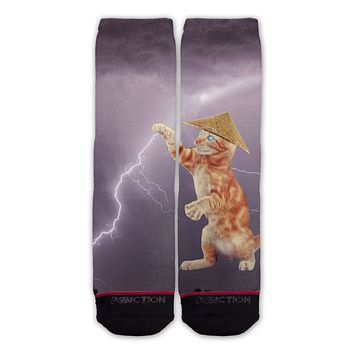 Function - Cat Lightning Fashion Sock