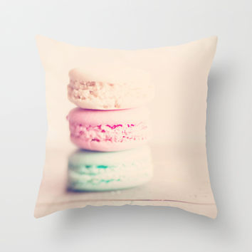 the sweet sweet macaron ... Throw Pillow by Laura Evans