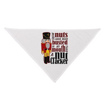 """More Nuts Busted - My Mouth Dog Bandana 26"""" by"""