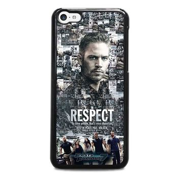 fast furious 7 paul walker iphone 5c case cover  number 1