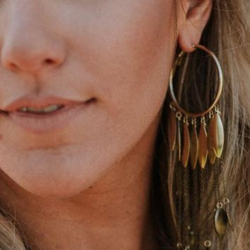 Long Nights Chandelier Earrings - Gold