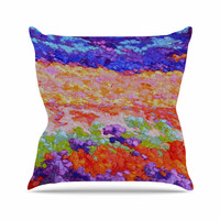 "Jeff Ferst ""Earthly Delights"" Floral Abstract Outdoor Throw Pillow"
