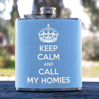 Keep Calm, Best Hip Flask 6oz, Internet Meme/Hipster Style, for Gifts, Men/Women, Bridesmaid, Groomsmen, Weddings, Soroity & more!