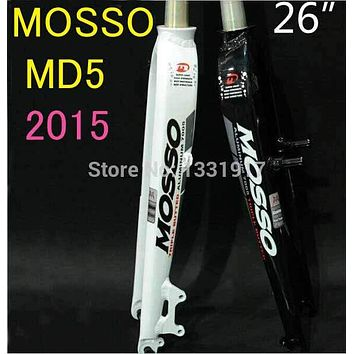 "MOSSO Fork 26"" Bicycle Fork MTB Road Bike Forks rigid MD5 26 size model Disc Brake D+V Brake different style to M5 M3 2016"
