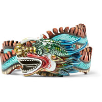 Gucci - 3cm Hand-Painted Leather Belt