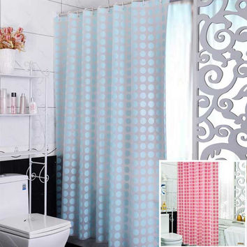 Fashion Blue Peva Shower Curtain Waterproof Mold Proof Eco-Friendly Endless Bath Curtain Hot Bathroom Products Shipping