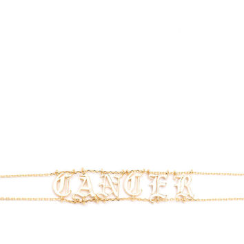 Astrology Talk Cancer Chain Choker GoJane.com