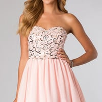 Short Strapless Sweetheart Dress