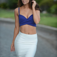 Luxe Pencil Skirt - White