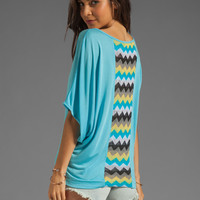 WOODLEIGH Jillian Dolman Oversized Top in Turquoise from REVOLVEclothing.com