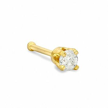 Diamond Accent Nose Stud in 14K Gold|Piercing Pagoda