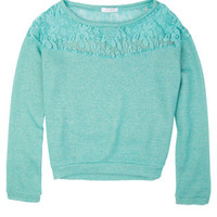 Lace Chest Sweatshirt