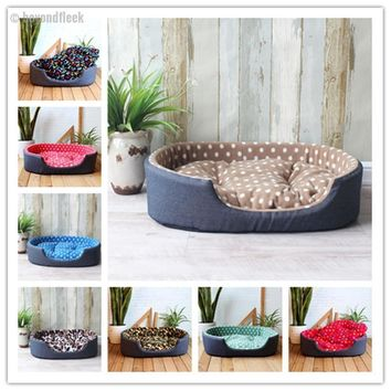 Luxury Pet Kennel House Warm Large Dog Bed Sizes S,M, L, XL
