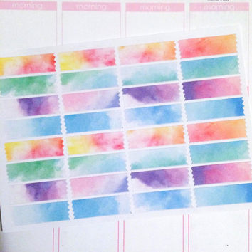 Washi Planner Sticker Set- Watercolor 32 count