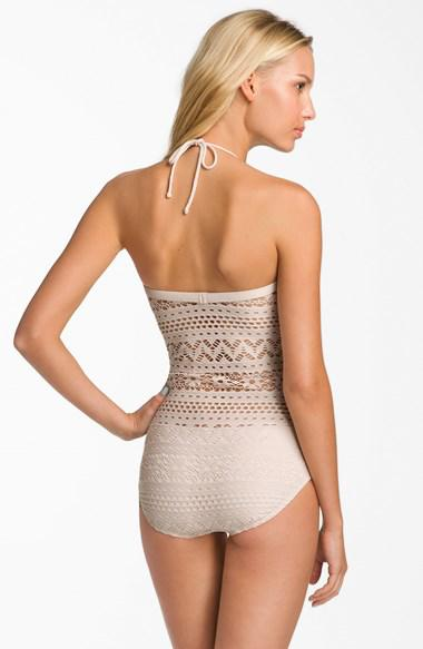 669e6757c Women s Robin Piccone  Penelope  Crochet Overlay One-Piece Swimsuit