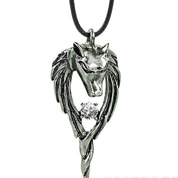 Gift Shiny Stylish New Arrival Jewelry Vintage Stainless Steel Totem Strong Character Titanium Pendant Men Lock Necklace [6526588035]