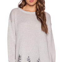 Wildfox Couture Lennon Sweater in Gray