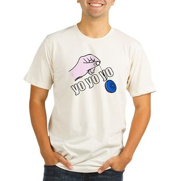Yo Yo Yo Organic Men's Fitted T-Shirt