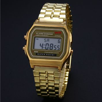 Casio Retro Gold&Silver-Tone Digital Watch