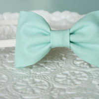 Spring in Sea foam Green Bow