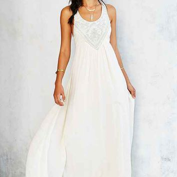 Ecote Triton Embellished Maxi Dress- Ivory