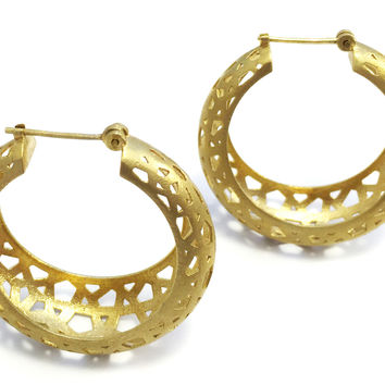 Jali Hoop Earrings