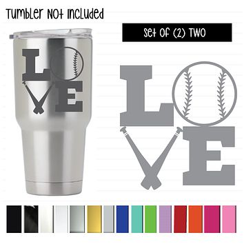 "Love Baseball/Softball (Bats), 3""H"