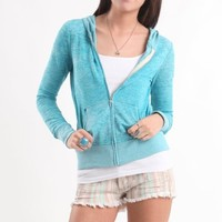 Nollie Womens Burnout Fleece Zip Up Hoodie $26.50
