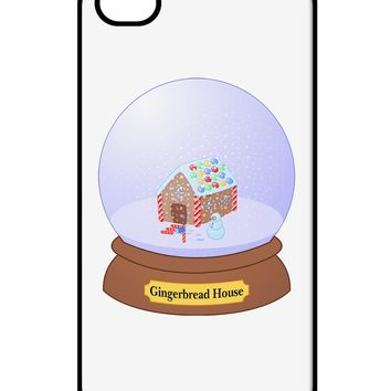Little Gingerbread House Snow Globe iPhone 4 / 4S Case  by TooLoud