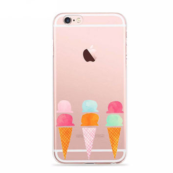 Two Scoops Ice Cream Cone Fun Case for iPhone