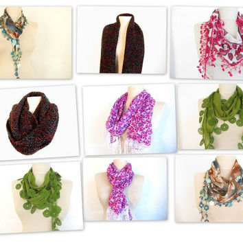 Super Sale-5 pieces Scarf -Totaly 101 dollar-.NOW 100 dollar + free shipping