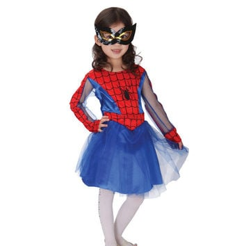 Spider Girl Costume Halloween Costume For Kids Fancy Costume For Girls Kids Anime Cosplay Costume Performance Children