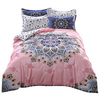 Svetanya mandala print bedding set thick soft sanding cotton bedlinen winter Queen King size duvet cover set