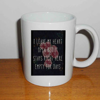 "One Direction Story of My Life - Mug, Quote Mug, Beyonce Mug, Ceramic Mug, typography, Beyonce Quote, Cup Mug ""NP"""