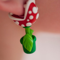YOUCH Piranha Plant Earrings sold OUT until november by lizglizz