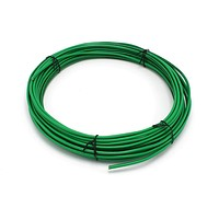 THE CIMPLE CO - Solid Copper Grounding Wire   Proudly Made in America   Ground Protection Satellite Dish Off-Air TV Signal   UV Jacketed Antenna Electrical Shock # 10 Gauge AWG THHN   Green 50 FT