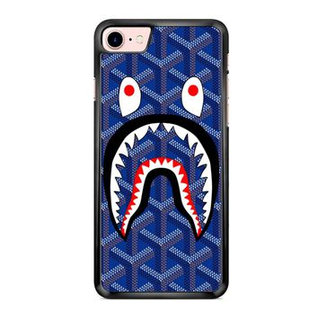 Goyard Bape Shark Blue iPhone 7 Case