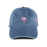 "Flamingo - Light Denim ""Dad"" Cap"