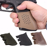 3 colors Universal Tactical Holster Pistol Rubber Grip Anti Slip Glove For gun