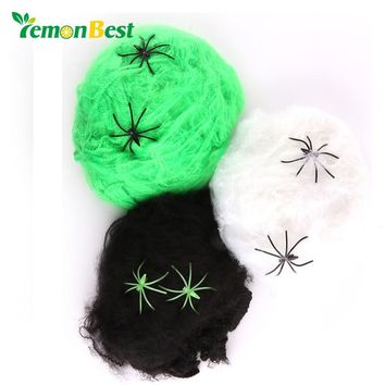 LemonBest Halloween Cobweb Stretchy Spider Web For Haunted House Props Party Scary Decoration Spiderweb for Halloween