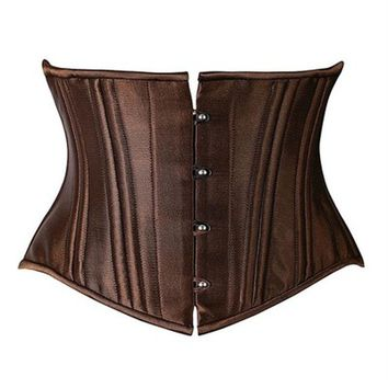 Sexy Steampunk 26 Steel Boned  Under Bust Corset Waist Cincher Weight Loss Shapewear Clubwear Plus Size Queening Costume