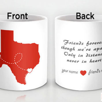 Custom PinkMugNY design coffee mug- Long Distance Love - Best Friends #6