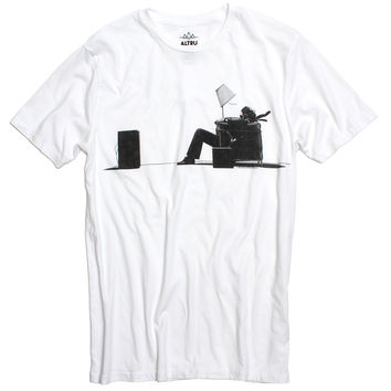 Maxell Blown Away Guy graphic white t-shirt by Altru Apparel (S,M & L Only)