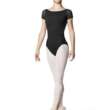 Diamond Flock Boat Neck Cap Sleeve Leotard L9912 by Bloch