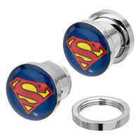 Superman Logo Steel Plugs