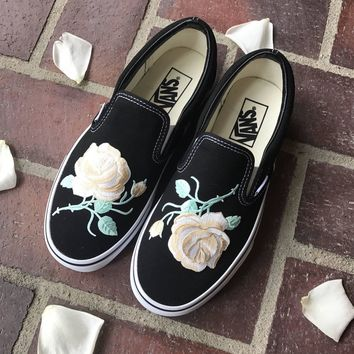 Vans Slip-On Blue Custom Apricot Rose Sneaker