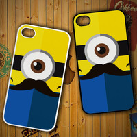 MINIONS mustaches Y1704 iPhone 4S 5S 5C 6 6Plus, iPod 4 5, LG G2 G3 Nexus 4 5, Sony Z2 Case