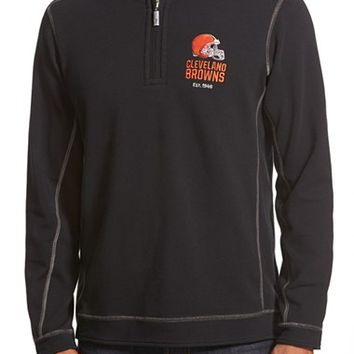 Men's Tommy Bahama 'Ben & Terry - Cleveland Browns' NFL Quarter Zip Pullover,