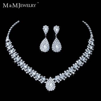 Jewelry Sets Crystal Bridal lace earrings Teardrop Africa Bead TL001
