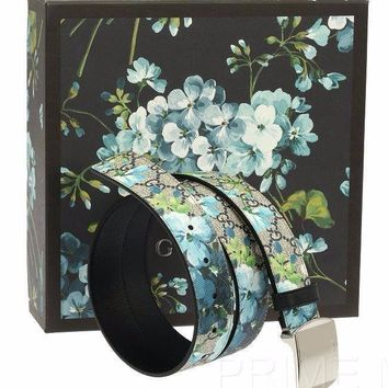NEW GUCCI GUCCISSIMA SUPREME BLOOMS LOGO BUCKLE BELT 105/42 W/BOX